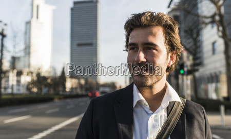 germany frankfurt young businessman in the
