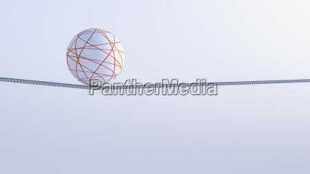 3d rendering gleichgewicht objekt ball auf