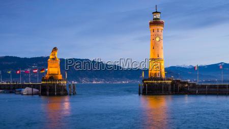 germany bavaria lindau lake constance harbour