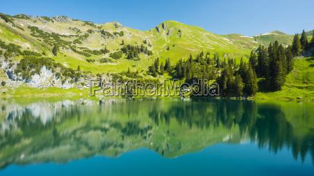 germany bavaria allgaeu alps view to