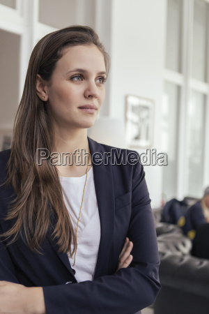 portrait of young business woman with