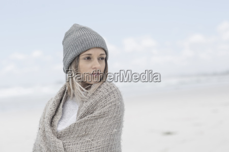 portrait of woman wearing beanie and