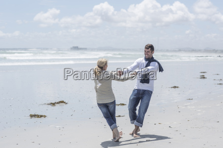 couple having fun together on a