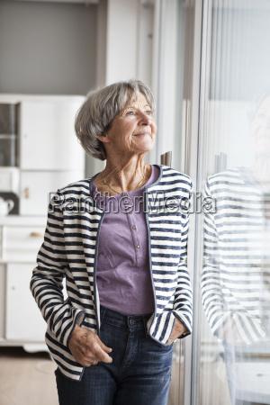 portrait of confident senior woman looking