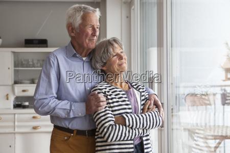 portrait of confident senior couple looking