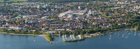 germany lake constance aerial view radolfzell