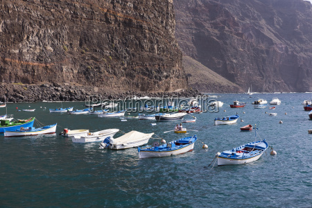 spain la gomera fishing harbour in
