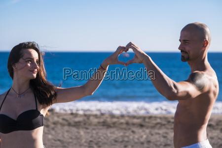 spain tenerife portrait of happy couple