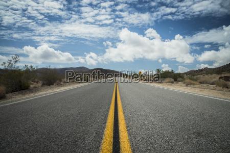 usa california road in joshua tree