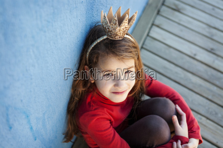 portrait of little girl with a