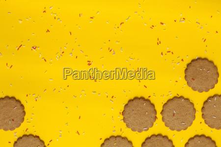 ginger cookies sprinkled with sugar granules