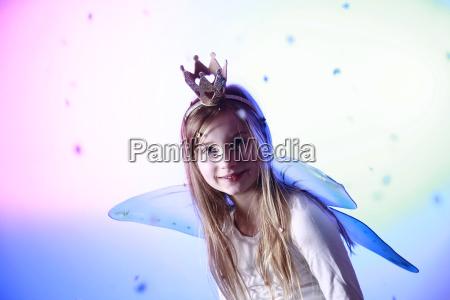 portrait of smiling little girl dressed