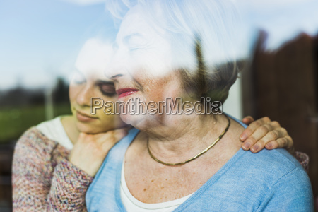young woman and senior woman with