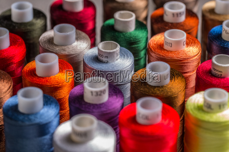 spools of silk thread