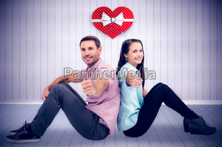 composite image of smiling couple