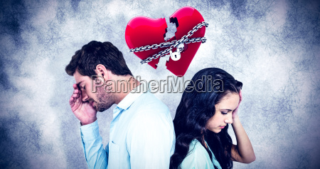 composite image of couple back to