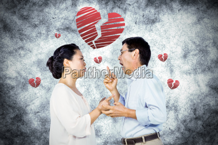 composite image of older asian couple