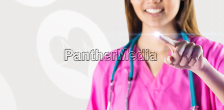 composite image of asian nurse with