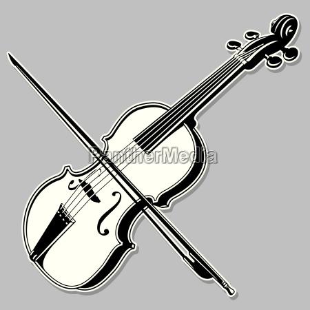 violin line art