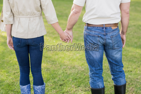 cute couple holding hands