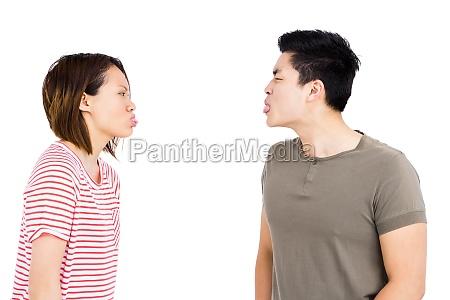 frau freisteller scherz weiblich konflikt maennlich