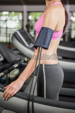 mid section of woman exercising on