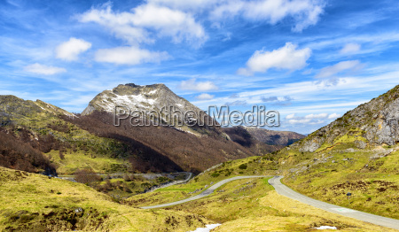 mountain landscape with a winding road