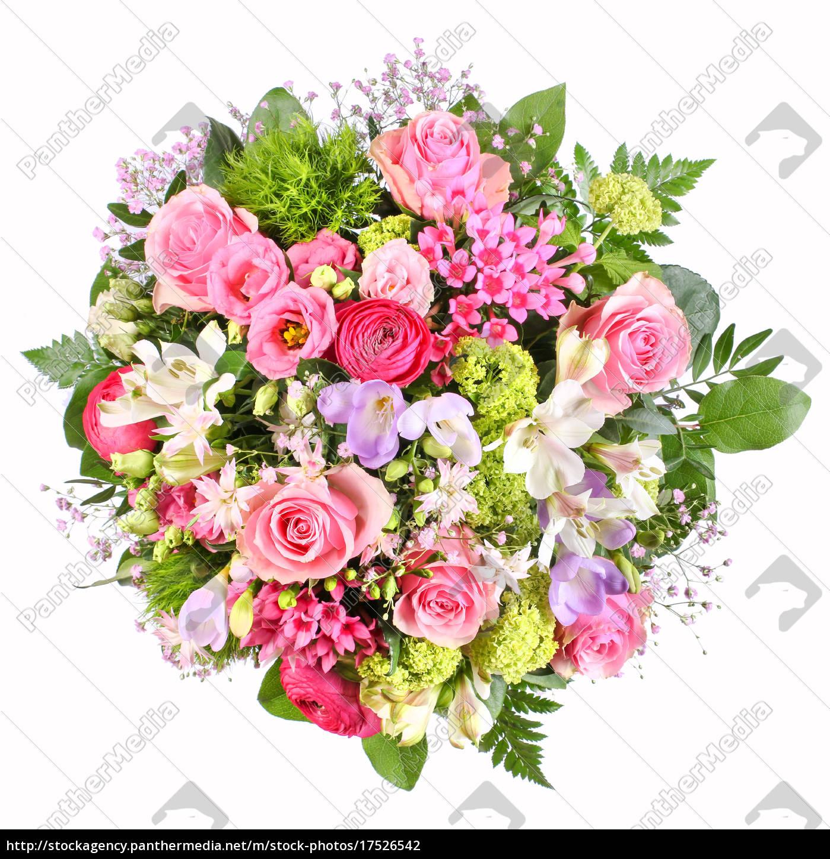 blumenstrauß mit rosen und ranunkeln  stock photo