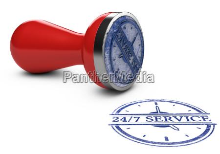 nonstop service 24 stunden und 7