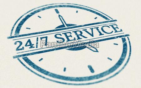 service immer geoeffnet 24 stunden und