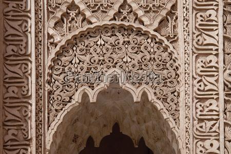 design on the ben youssef madrasa