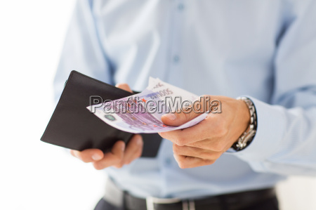 close up of businessman hands holding