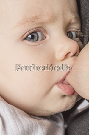 close up portrait of cute baby