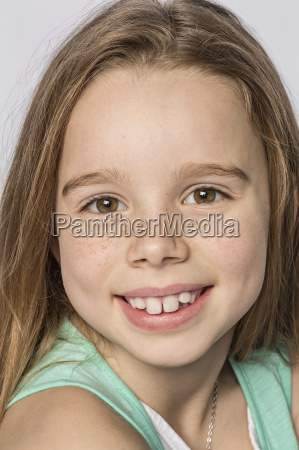 close up portrait of smiling cute