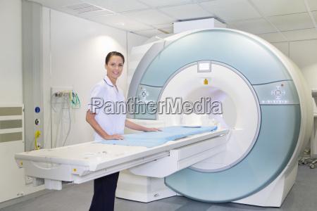 portrait confident technician nurse at mri