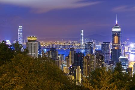 hong, kong, city, night - 17589252