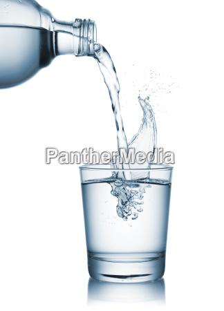 wasser auf glas giessen