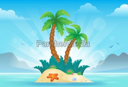 tropische insel thema bild 3