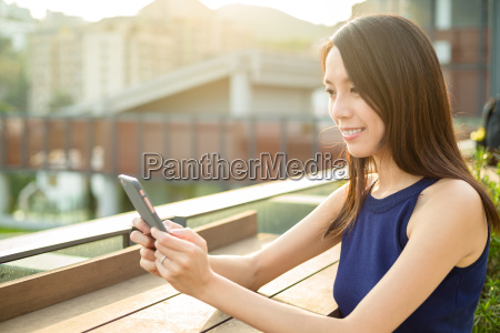 woman use of smart phone at