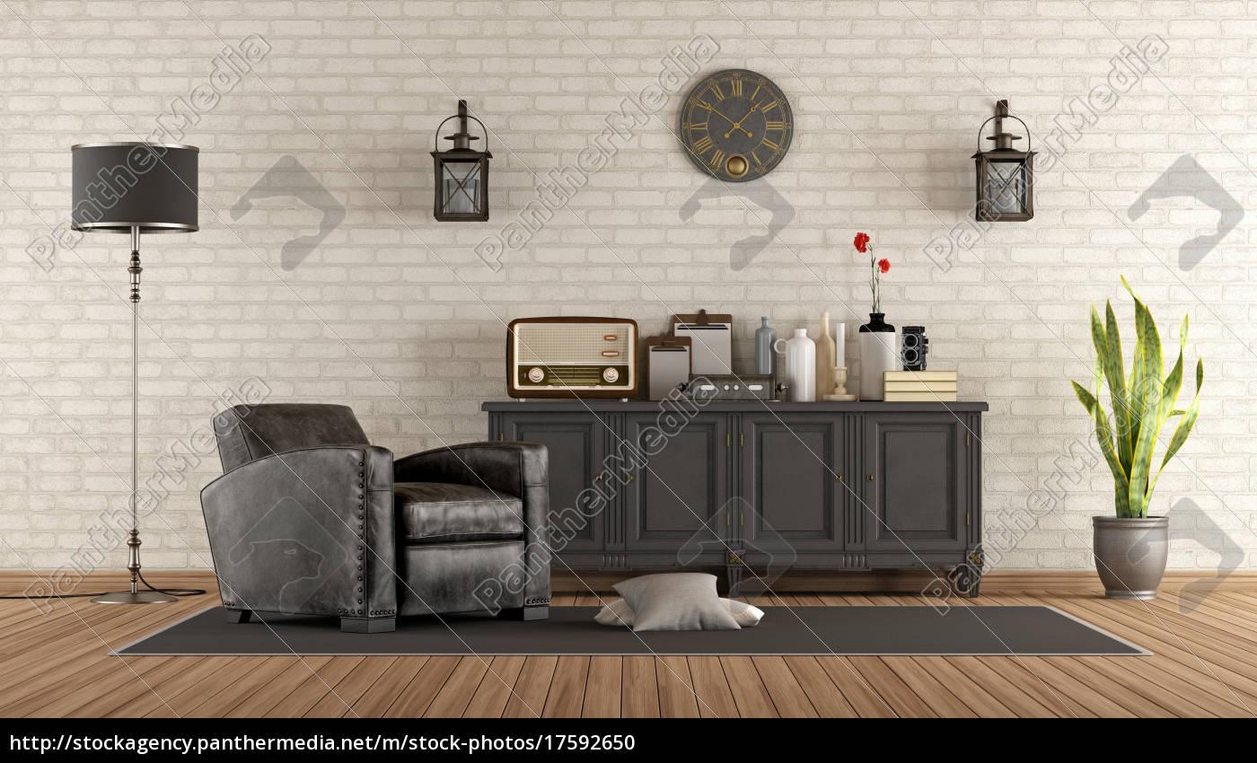 Stock Bild 17592650 Vintage Wohnzimmer