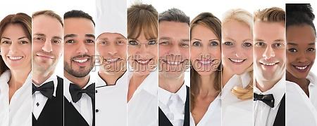 set des restaurantpersonals