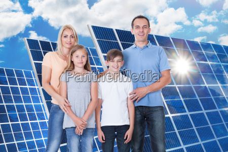 portrait of happy family on white