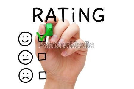 konzept der kundenzufriedenheit bewertet