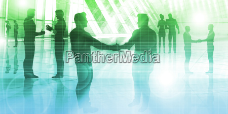 geschaeftsleute handshake gruss vereinbarung talking deal