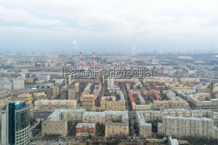 panorama der stadt moskau aus der