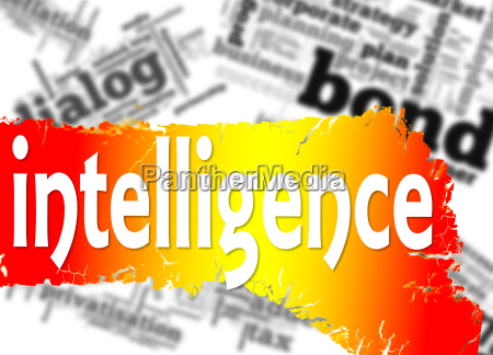 word cloud with intelligence word
