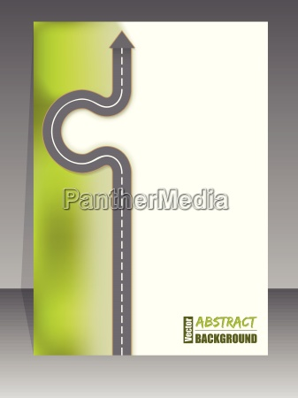 abstract brochure with arrow road