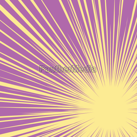 bright burst background retro comic pop