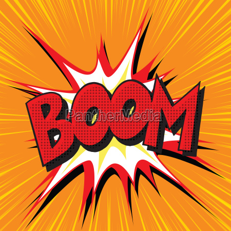 boom explosion comic text pop art