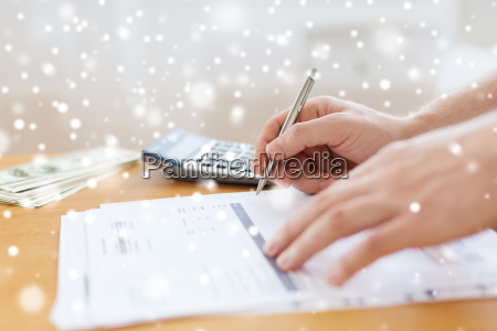 close up of man with papers